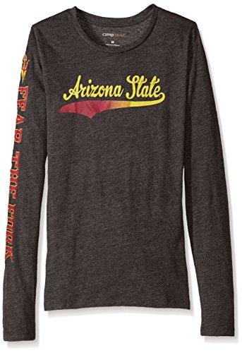 Ncaa Arizona State Sun Devils Womens Bff 2 Long Sleeve Crew Neck Tee  X Large  Charcoal Heather