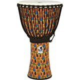 Toca SFDJ-14KB Freestyle Rope Tuned 14-Inch Djembe with Bag - Kente Cloth
