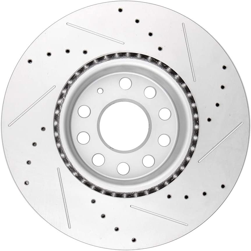 For 2012-2016 Volkswagen CC Front Rear Black Drilled Brake Rotors+Ceramic Pads