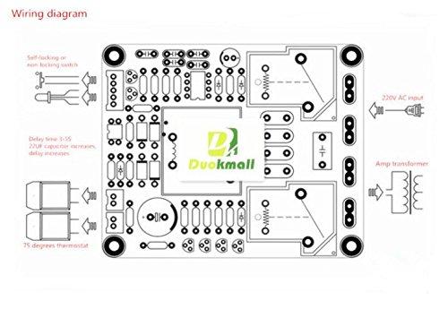 Nueva Clase Un amplificador de potencia de arranque suave temperatura retraso Paneles de protección 220V: Amazon.es: Electrónica