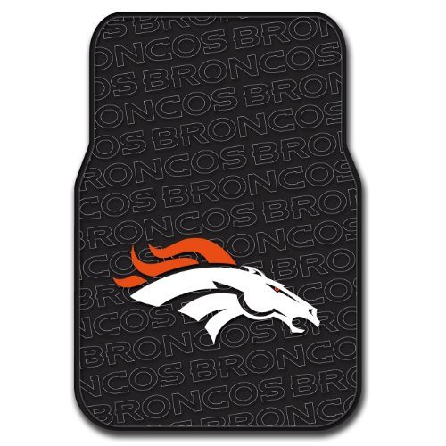 Broncos OFFICIAL National Football League, 25.5 x 17.5 Car Floor Mat Set (Pair of 2) by Northwest Official