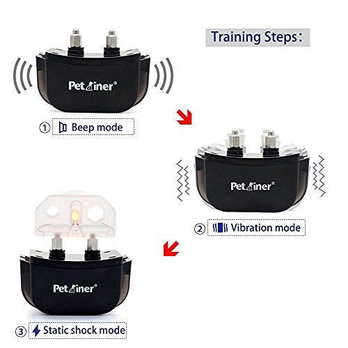 51R8diHBWPL - Petrainer PET998DRB1 Dog Training Collar Rechargeable and Rainproof 330 yd Remote Dog Shock Collar with Beep, Vibra and Shock Electronic Collar