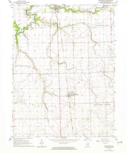 - Wellington IL topo map, 1:24000 Scale, 7.5 X 7.5 Minute, Historical, 1964, Updated 1965, 26.5 x 22 in - Paper