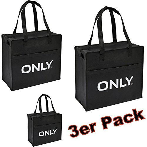 ONLY TASCHEN 3er PACK Shopping Bags Einkaufstasche Tasche Bag NEU jRVry