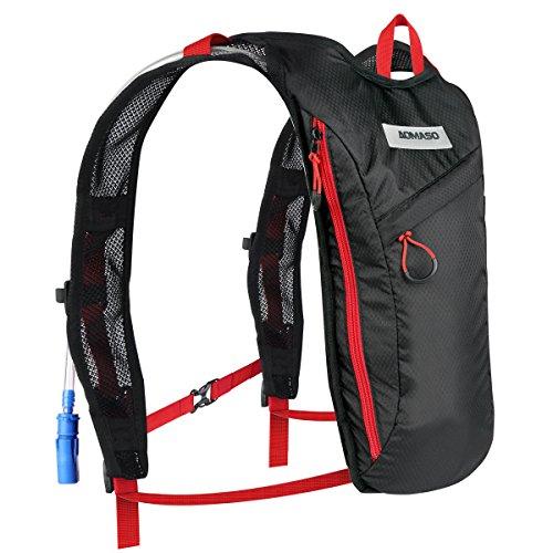 Aomaso Flüssigkeitspack mit 2 Liter Blase für Rennen, Klettern, Fahrrad fahren. - Liechter Rucksack für Läufer, Fahrradfahrer und Radsport mit Flüssigkeitspack
