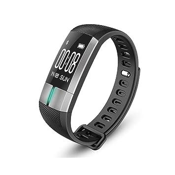 Reloj Elegante Con Pulsómetro,Impermeable Reloj Inteligente,Fitness Tracker Con Cronómetro, Monitor De