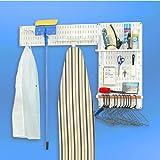 EZ Wall Organizer - Standard Laundry Room Kit (White w/White Accessories) (48''W x 32''H)