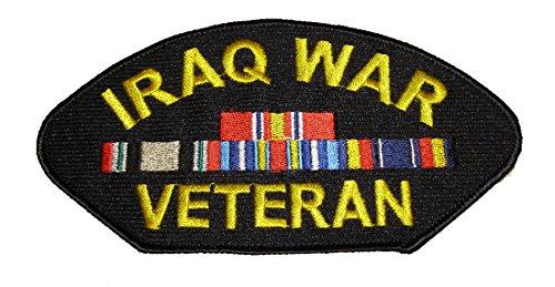 IRAQ WAR VETERAN w/4 RIBBONS PATCH - Veteran Owned (Iraq Patch)