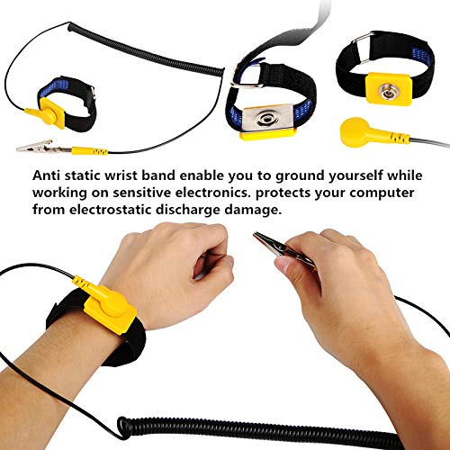 Hand & Power Tool Accessories New Fashion Power Tool Accessories With Grounding Wire And Alligator Clip Anti Static Esd Strap Wrist Strap For Working On Electric Devices Be Friendly In Use Power Tool Accessories