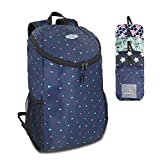 U+U Travel Packable Small Lightweight Backpack – 30L Foldable Hinking Daypack, Camping Outdoor and Sports Bag (Blue)