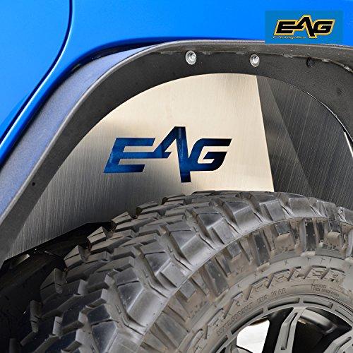 E-Autogrilles EAG 07-18 Jeep Wrangler JK Silver Aluminum Rear Inner Fender Liner Kit (Fender Inner Rear)