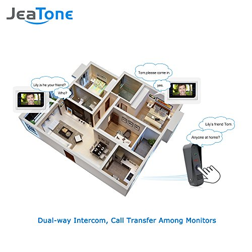 JeaTone 10 Inch TFT Wired Video Door Phone Intercom Security Camera Doorbell Home Security Camera System 32GB SD Card Video Record Monitor Door Video Camera Best Selling by Jeatone (Image #3)