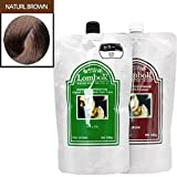 Gain LOMBOK Original LB Henna Hair Treatment Color Cream 6 Colors Pick one! (#07 Natural Brown)