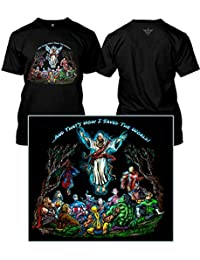 and That's How I Saved The World - Ascension Jesus DC Marvel Superheroes (Adult S, Black)