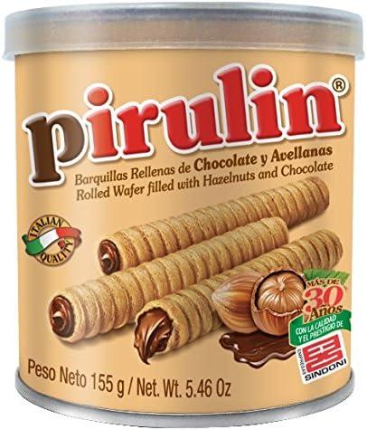 Sindoni Pirulin Barquillo de Chocolate - 155 gr: Amazon.es ...