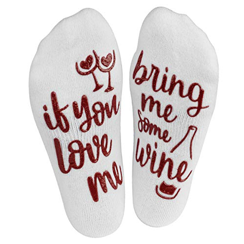 If You Love Me Bring Me Some Wine Socks with Non-slip - Christmas Gift for Women