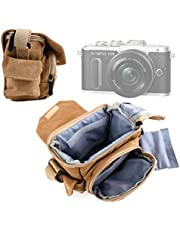 DURAGADGET Bolso/Canvas para Cámara Nikon CoolPix W100 / Olympus E-PL8 / Panasonic Lumix DMC-LX10 / DMC-LX15 / Yi M1 - Marrón