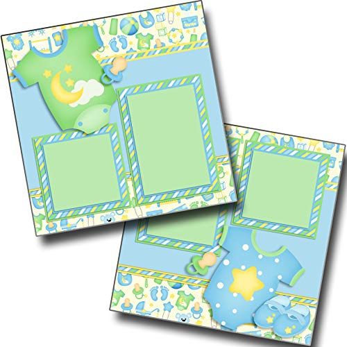 Baby Boy Gear - Premade Scrapbook Pages - EZ Layout 3800