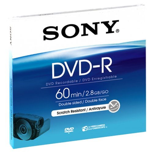 2 Pack of Sony Handycam DVD-R Discs 60 MIN 2.8 GB - NEW SEAL