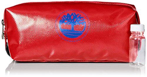 (Timberland Men's Tarp Travel Kit, Red)
