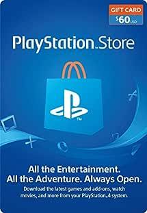 $60 PlayStation Store Gift Card [Digital Code]