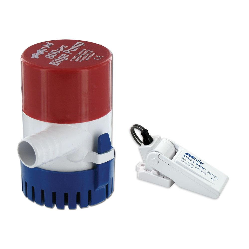 Rule 800 Gph Round Non Automatic Bilge Pump W A Float Switch Wiring Diagram Matic 12v Sports Outdoors
