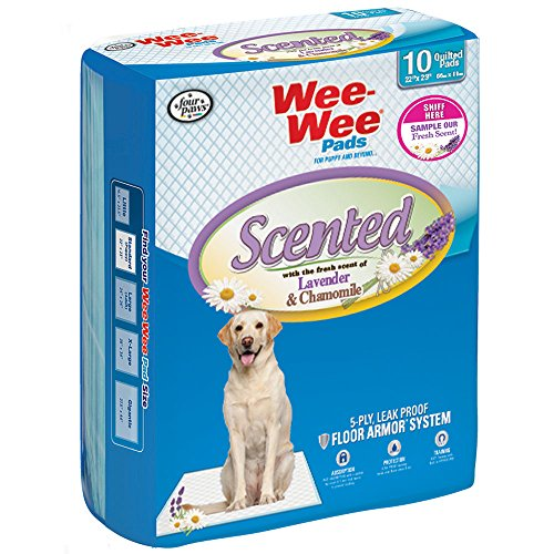 Four Paws Wee-Wee Lavender Puppy Pads, 10 Count