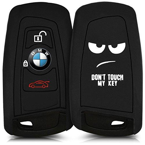 kwmobile Housse en silicone pour 3-Bouton clef de voiture à distance (seulement Keyless Go) - Housse de protection pour les clés en Design Don't touch my Key Housse de protection TPU