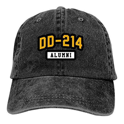 Heiazha Hipster Printed Cowboy Cap,DD 214 Alumni Denim Hat Snapback Cap for Adult Mens Womens ()