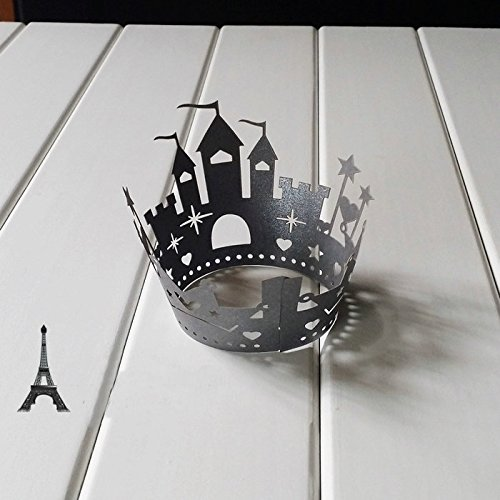 DITOP® Pack of 12 Castle Halloween Cake Decoration Lace Laser Cut Cupcake Wrapper Liner Baking Cup Muffin Case Trays Wedding Birthday Baby Shower Party Decoration
