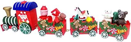 Wooden Little Train Christmas Decoration For Home Decor Ornaments Cute Kids Gift