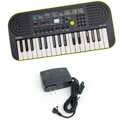 Casio SA-46 -Key Portable Keyboard with Casio Power Supply