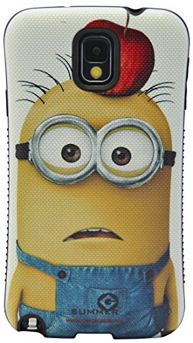 Note 3 Case,Galaxy Note 3 Case,Huaxia Datacom Despicable Me II Minion First Class Anti-Shock iFace Mall i-Style Urethane Bumper Case for Samsung Galaxy Note 3 Note III N9000- An Apple on Head