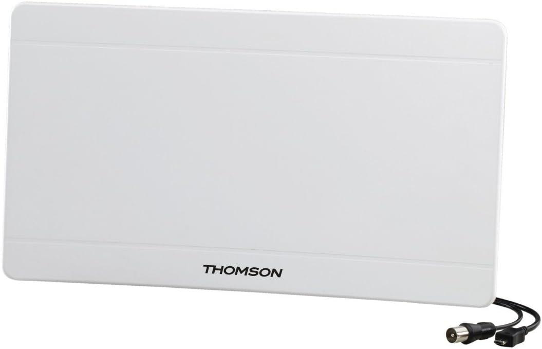 Thomson Ant1706 Curved Zimmerantenne Dvb T Dvb T2 Für Tv Radio Analog Digital 4k Ultra Hd Aktiv Antenne Weiß Heimkino Tv Video