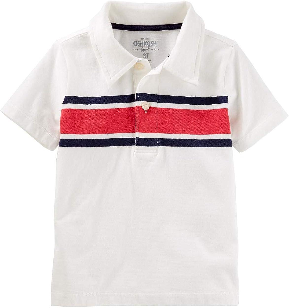 OshKosh BGosh Boys Toddler Striped Jersey Polo