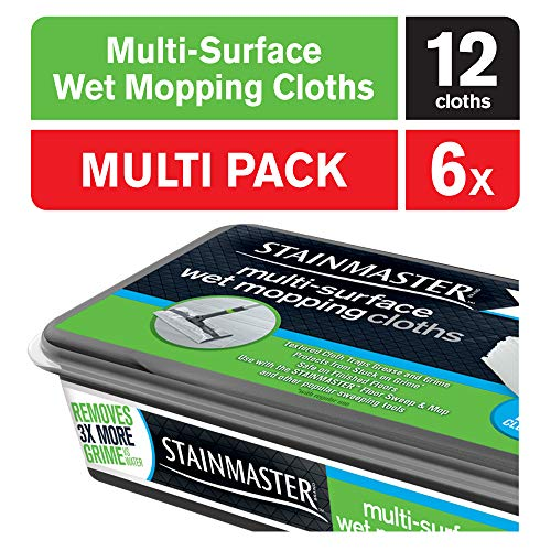 - STAINMASTER Wet Mopping Cloths, 72 Count, 6 Packs of 12 Mopping Cloths