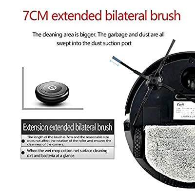 Robotic Vacuum Cleaner,Wet and Dry Large mop,Smart Walking Prevent Entanglement,Long-Lasting Battery Life for Pet Hair Hard Floor and Carpet