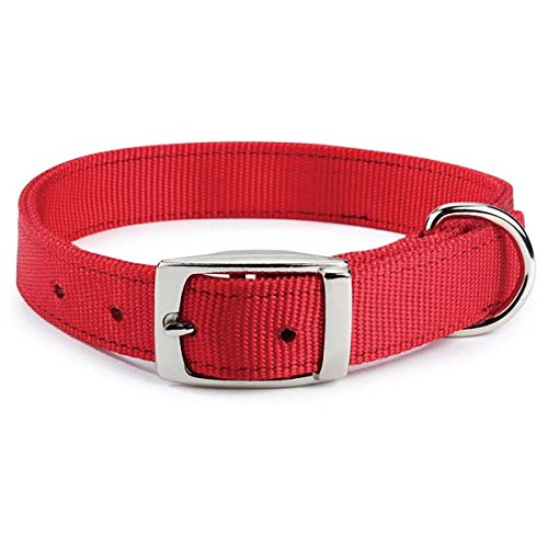 Guardian Gear 28-Inch Double-Layer Nylon Dog Collar, Red