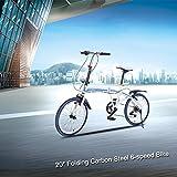 "Lixada 20"" Folding Carbon Steel U8 Bike 6-speed Portable Bicycle Fold Storage"
