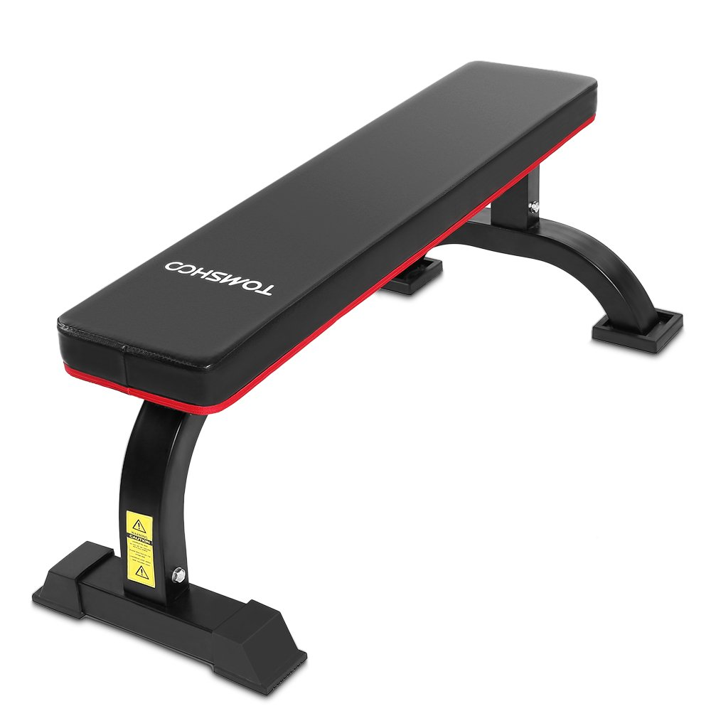 TOMSHOO Flat Weight Bench AB Sit Up Exercises Bench Home Gym Weight Training Abdominal Fitness by TOMSHOO
