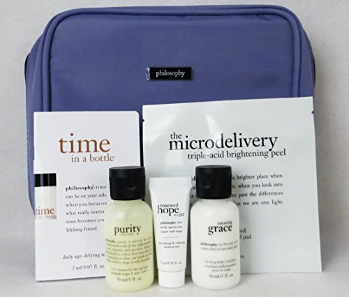 Philosophy The Skin-care that gives back 6 pieces travel bag