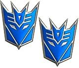 transformers emblem for camaro - Transformers Decepticon Pair Aluminum Medium Emblems in Blue (2)