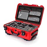 Nanuk 935 Waterproof Carry-On Hard Case with Lid Organizer for Sony A7R Size Camera w/Wheels - Red