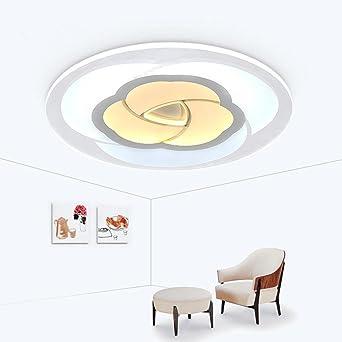 YAYONG LED Plafonnier Ronde Acrylique Chambre à Coucher Principale Salon  Plafond éclairage (sans Lumière)