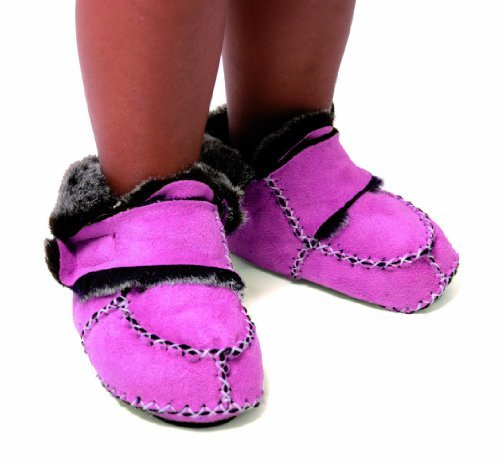 Baby Boum Faux Suede Booties 6-12 Months, Pink
