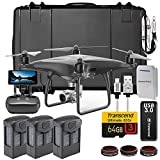 DJI Phantom 4 PRO Plus + Obsidian Executive Kit w/ Custom Wheeled Case, 3 Batteries + Triple Charger Hub, Filters, 64GB Card & More