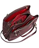 COACH Brooklyn Carryall 34 in Pebble Cherry