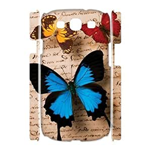 Butterfly Customized 3D Cover Case for Samsung Galaxy S3 I9300,custom phone case ygtg523902 by icecream design
