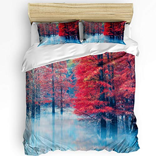 - YEHO Art Gallery King Size Luxury 3 Piece Duvet Cover Sets for Boys Girls,Mangrove on The Lake Bedding Set,Include 1 Comforter Cover with 2 Pillow Cases