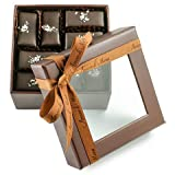 Fine, Artisanal, Vegan Chocolate Gift: Amore di Mona 16 Piece Sel Mignardise: Made Pure & Simply with Premium Ingredients That Are All Natural, Non-GMO, Kosher, Gluten, Soy, Milk, Sesame & Nut Free